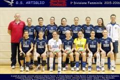 1' divisione femminile 2015/2016 Artiglio