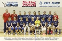 """Squadra : """"Marking Products Artiglio"""", Serie D , Stagione 2016-2017"""