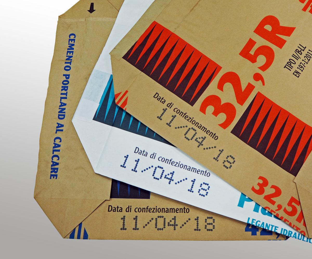 Applicazione Su Sacco Cemento Svolto Con Mperia Serie V - Getto-D'inchiostro D.o.d